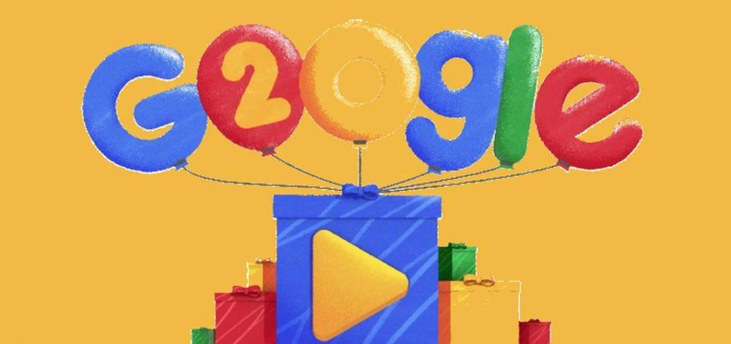Google Is 20 Jaar Geworden En Viert Het Met Een Doodle En
